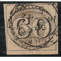 Selos Império - 02 - 60 Reis - Olho de Boi - 1843