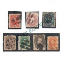 Selos Império - 23 ao 29 - 1866 - Carimbos Mudo