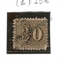 Selos Império - 13B -  30 Reis - Verticais - Denteados  - 1850