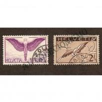 Suíça - Aéreos - 1 Franco e 2 Francos - F12 e F13 - 1923 a 1930