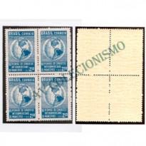 QC0426Y -  Quadra Marmorizada - Cr$ 2,50 - Congresso Interamericano de Municipios - 1958