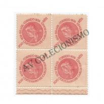 QC0107ES -  Quadra Sem Filigrana - Centenário de Carlos Gomes - 1936