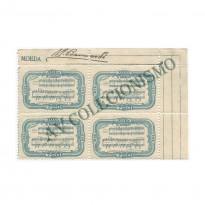 QC0108ES -  Quadra Sem Filigrana - Centenário de Carlos Gomes - 1936
