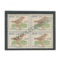 QC0601A - Quadra Pássaros Brasileiros - 1968