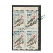 QC0642A - Quadra Pássaros Brasileiros Cardeal - 1969