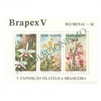 B051 - Brapex V - Exposição Filatélica Brasileira. Blumenau - 1982 - MINT