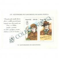 B053 - 75o Aniversário do Escotismo. Baden Powell - 1982 - MINT