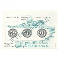 B057 - Brasiliana - 140 Anos da emissão Olhos-de-Boi - 1983 - MINT