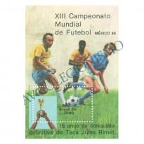 B070 - XIII Campeonato Mundial de Futebol - México-86 - 1985 - MINT