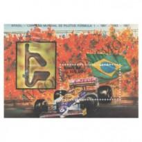 B075 - Brasil Campeão Mundial de Pilotos Fórmula 1 - 1981-1983-1987 Nelson Piquet - 1988 - MINT