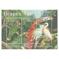 B078 - Brapex VII - Exposição Filatélica. Estação Ecológica Juréia  - 1988 - MINT