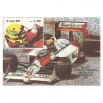 B079 - Brasil Campeão Mundial de Fórmula I. Ayrton Senna - 1989 - MINT