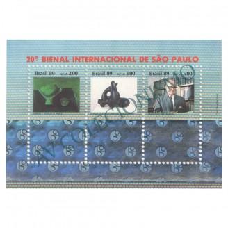 B082 - 20a Bienal Internacional de São Paulo - 1989 - MINT