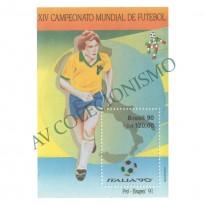 B086 - XIV Campeonato Mundial de Futebol - Itália - 1990 - MINT