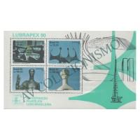B087 - Lubrapex 90 - Exposição Filatélica. Esculturas de A. Ceschiatti e B. Giorgi - 1990 - MINT