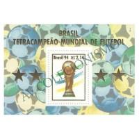 B098 - Brasil Tetra-Campeão de Futebol (EUA) - 1994 - MINT