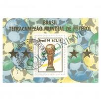 B098 CPD - Brasil Tetra-Campeão de Futebol (EUA) - 1994 - MINT