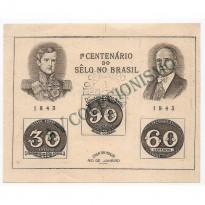 B007 - Centenario do Selo Brasileiro - 1943  - CPD