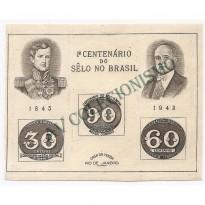 B008 - Centenario do Selo Brasileiro - 1943