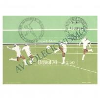 B036 CBC - Campeonato Mundial de Futebol Alemanha - 1974 - MINT