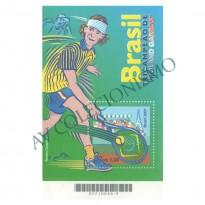 B121 - Brasil Tricampeão Roland Garros - Tenis - Gustavo Kuerten - 2001 - MINT