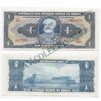 C009 - 1 Cruzeiro - Autografada - 1944 - FE