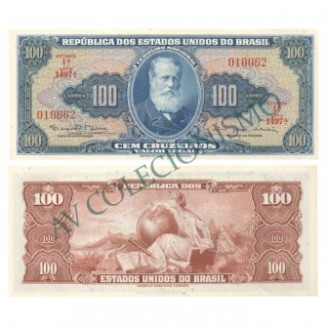 C036 - 100 Cruzeiros - 1964 - SOB/FE