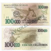 C235 - 100 Cruzeiros Reais - 1993 - FE