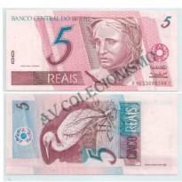 C273 - Cédula Brasil - 5 Reais - 1999 - FE