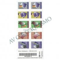 SCD - 23 - Caderneta Cidadania - Selos 744 a 748 - 1997