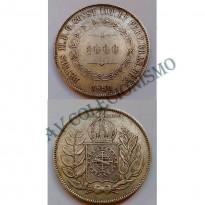 MAR 446 - Moeda 1000 réis - Prata - 1850 - SOB
