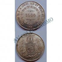 MAR 447 - Moeda 1000 réis - Prata - 1851 - SOB