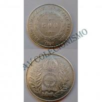 MAR 451 - Moeda 500 réis - Prata - 1850 - MBC