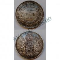 MAR 452 - Moeda 500 réis - Prata - 1851 - MBC