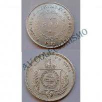 MAR 453 - Moeda 500 réis - Prata - 1852 - SOB