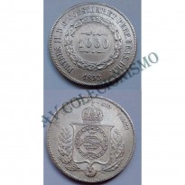 MPR 601 - Moeda 1000 réis - Prata - 1853 - SOB