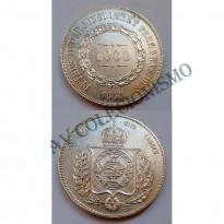 MPR 604 - Moeda 1000 réis - Prata - 1856 - SOB