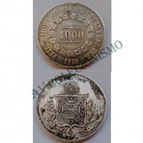 MPR 607 - Moeda 1000 réis - Prata - 1859 - MBC