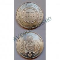 MPR 607 - Moeda 1000 réis - Prata - 1859 - SOB