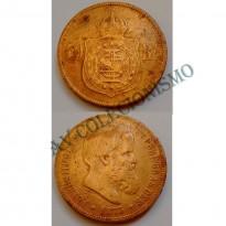 MBZ 001 - Moeda 40 Réis - Bronze - 1873 - MBC