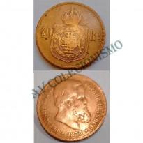 MBZ 001 - Moeda 40 Réis - Bronze - 1873 - SOB