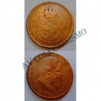 MBZ 002 - Moeda 40 Réis - Bronze - 1874 - MBC