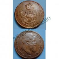 MBZ 792 - Moeda 40 Réis - Bronze - 1875 - MBC