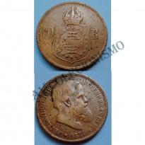 MBZ 794 - Moeda 40 Réis - Bronze - 1877 - MBC