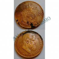 MBZ 005 - Moeda 40 Réis - Bronze - 1877 - SOB