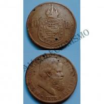 MBZ 795a - Moeda 40 Réis - Bronze - 1878 - MBC