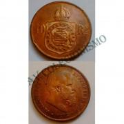 MBZ 006 - Moeda 40 Réis - Bronze - 1878 - MBC