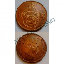MBZ 006 - Moeda 40 Réis - Bronze - 1878 - SOB