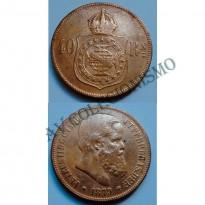 MBZ 007 - Moeda 40 Réis - Bronze - 1879 - MBC