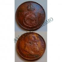 MBZ 007 - Moeda 40 Réis - Bronze - 1879 - SOB